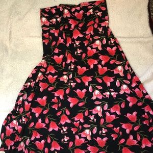 Lularoe Maxi Skirt Pink Tulips